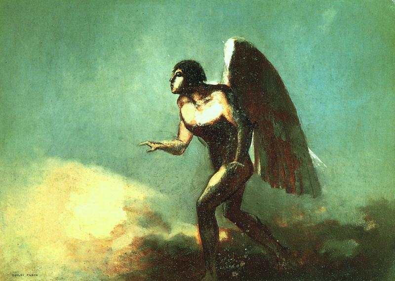 Odilon Redon The Winged Man Sweden oil painting art