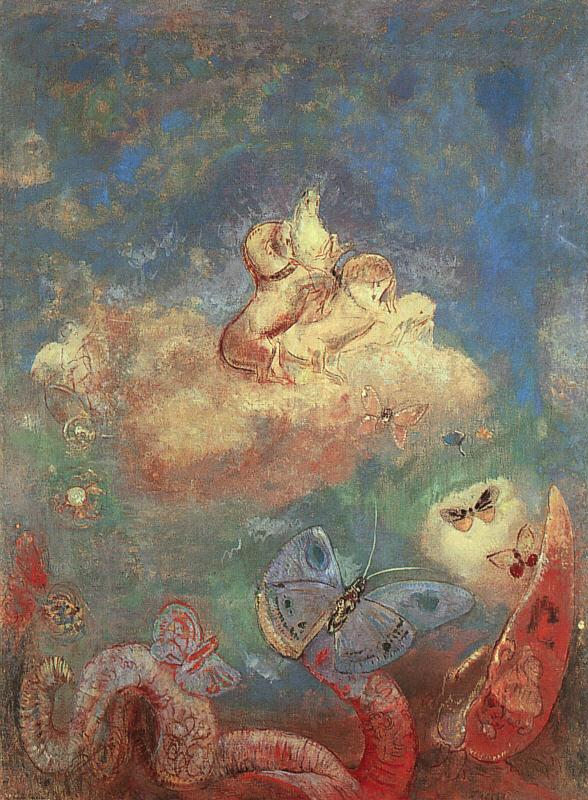 Odilon Redon The Chariot of Apollo Sweden oil painting art