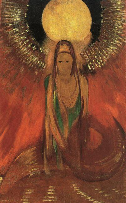 Odilon Redon The Flame Sweden oil painting art