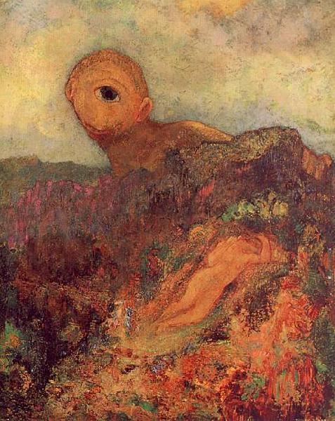 Odilon Redon The Cyclops Sweden oil painting art