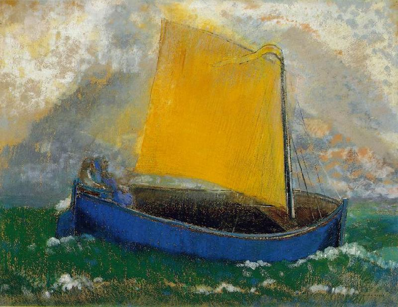 Odilon Redon The Mystical Boat Sweden oil painting art