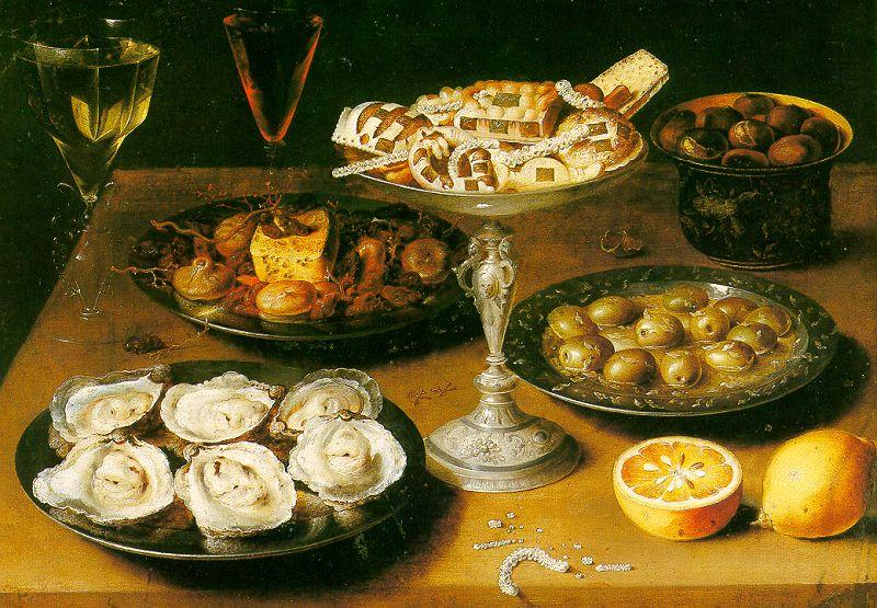 Osias Beert Still Life with Oysters and Pastries oil painting image