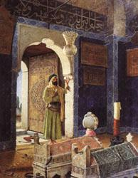 Osman Hamdy Bey Old Man before Children's Tombs oil painting image