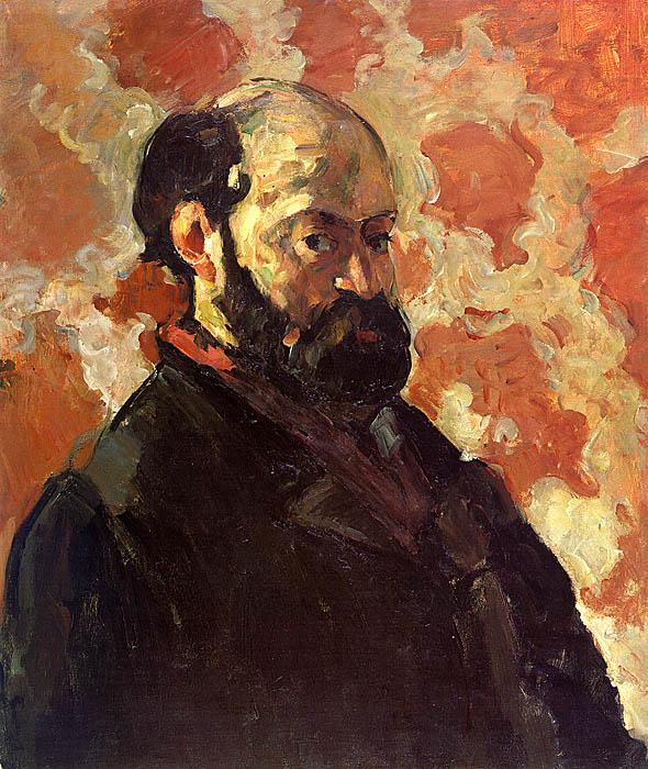Paul Cezanne Self Portrait on a Rose Background oil painting image