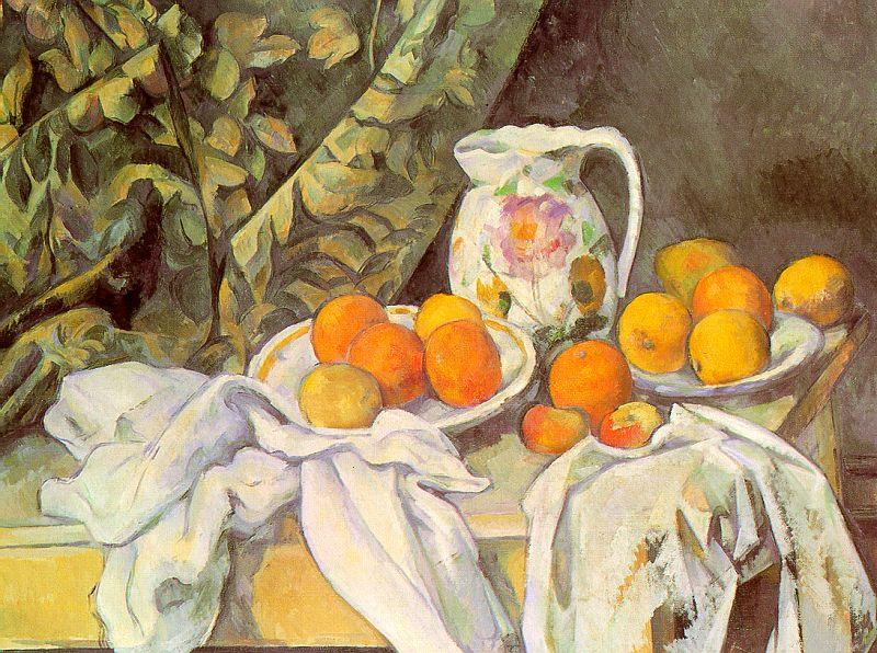 Paul Cezanne Still Life with Drapery oil painting image
