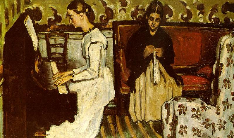 Paul Cezanne Girl at the Piano oil painting image