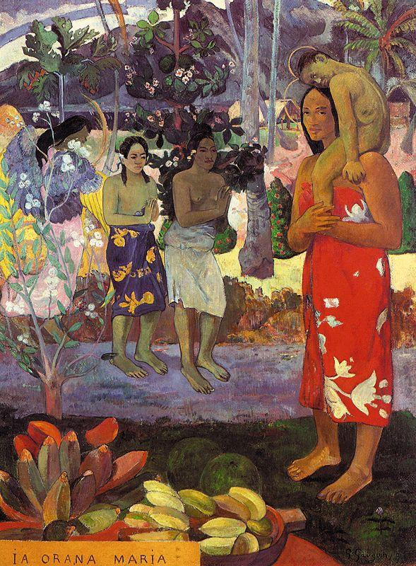 Paul Gauguin Hail Mary oil painting picture