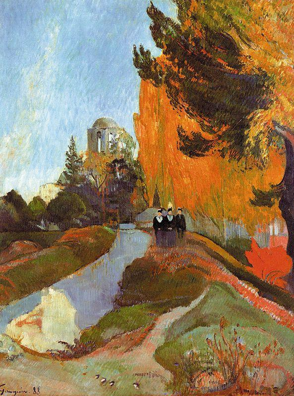 Paul Gauguin The Alyscamps at Arles oil painting image