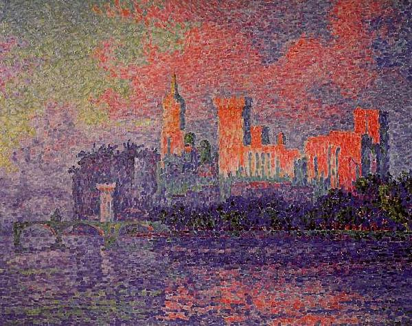 Paul Signac The Papal Palace, Avignon Sweden oil painting art