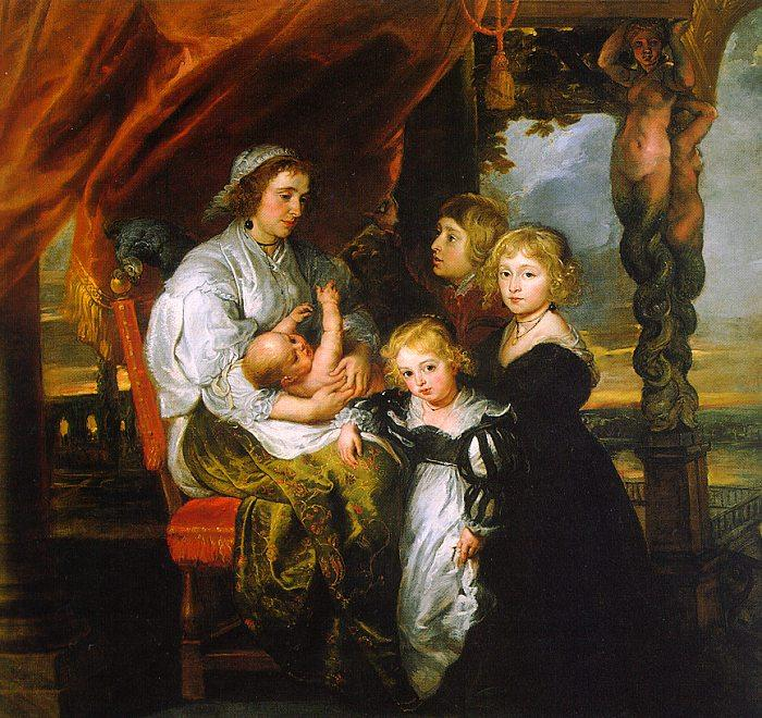 Peter Paul Rubens Deborah Kip and her Children Sweden oil painting art
