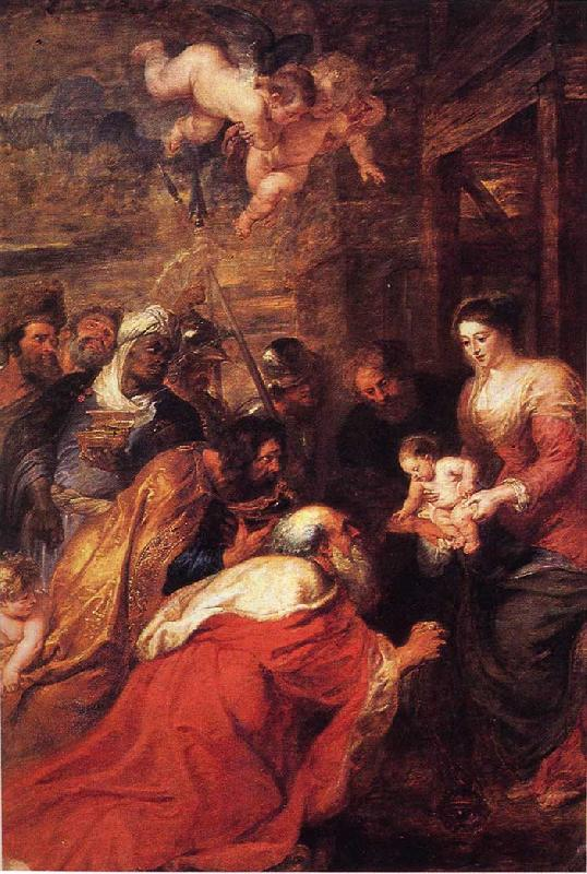 Peter Paul Rubens Adoration of the Magi Sweden oil painting art