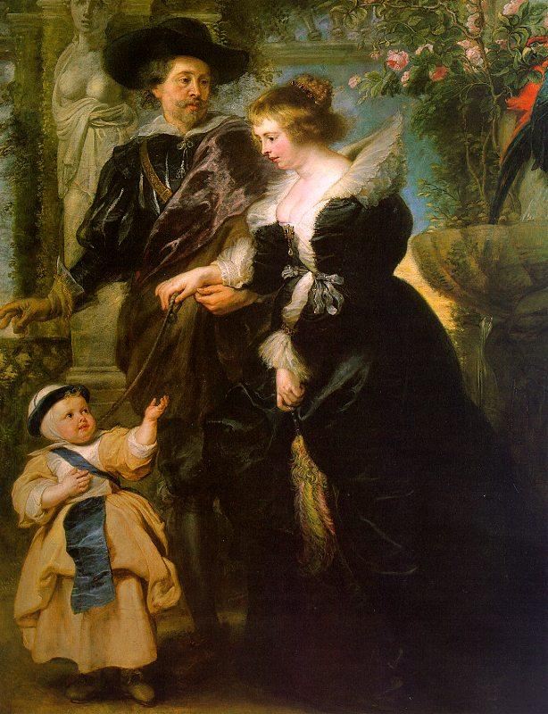 Peter Paul Rubens Rubens with his Wife, Helene Fourmont and Their Son, Peter Paul Sweden oil painting art