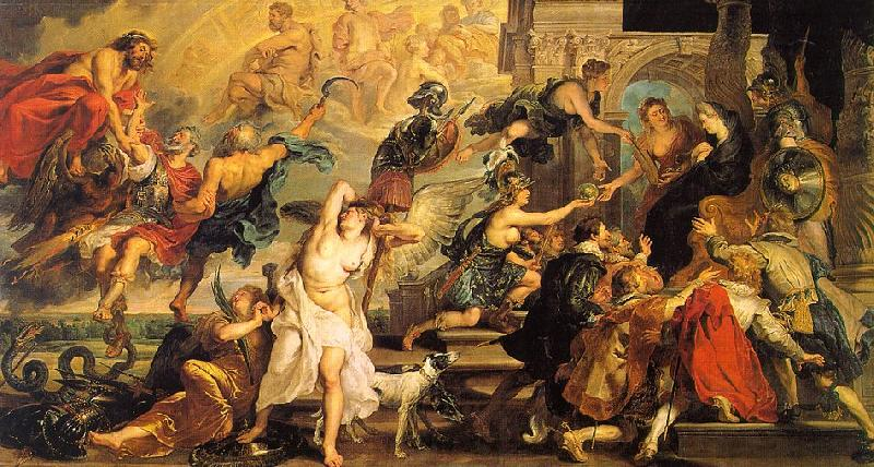 Peter Paul Rubens The Apotheosis of Henry IV and the Proclamation of the Regency of Marie de Medici on the 14th of May Sweden oil painting art