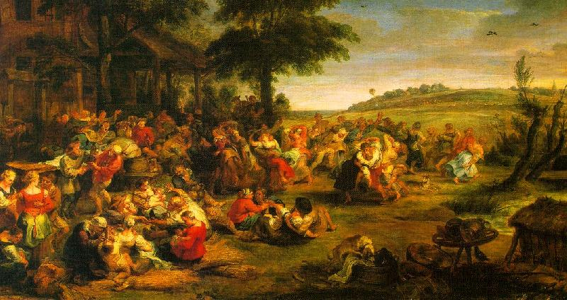Peter Paul Rubens The Village Wedding Sweden oil painting art