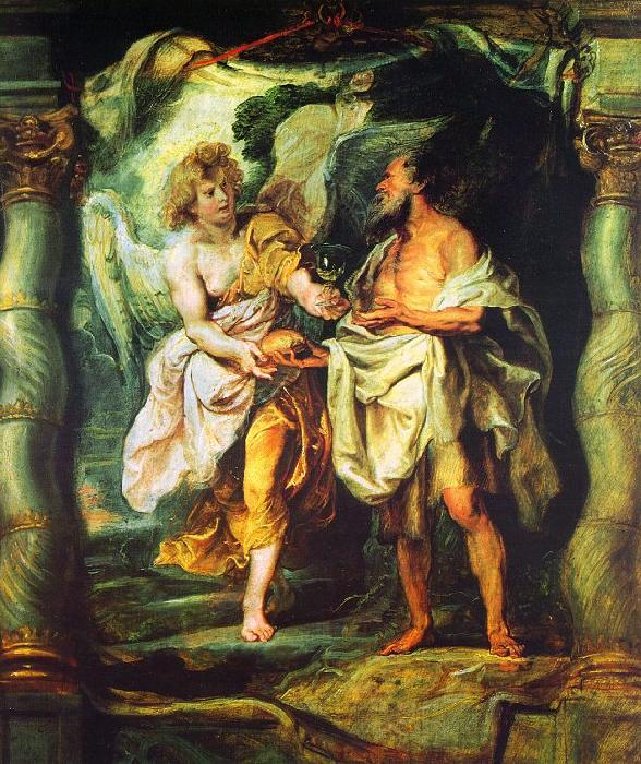 Peter Paul Rubens The Prophet Elijah Receiving Bread and Water from an Angel Sweden oil painting art