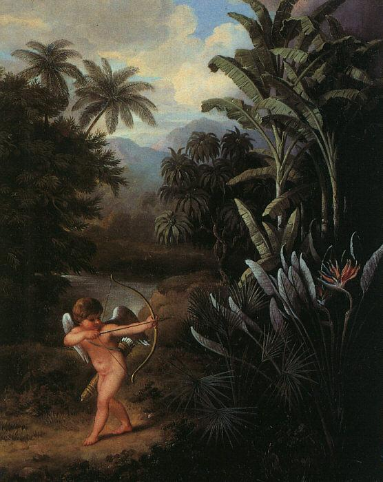 Philip Reinagle Cupid Inspiring the Plants with Love Sweden oil painting art