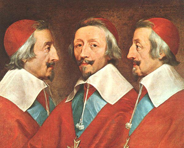 Philippe de Champaigne Triple Portrait of Richelieu oil painting image