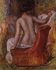 Pierre Renoir Nude in an Armchair Sweden oil painting art