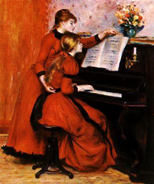Pierre Renoir Two Young Girls at the Piano Sweden oil painting art