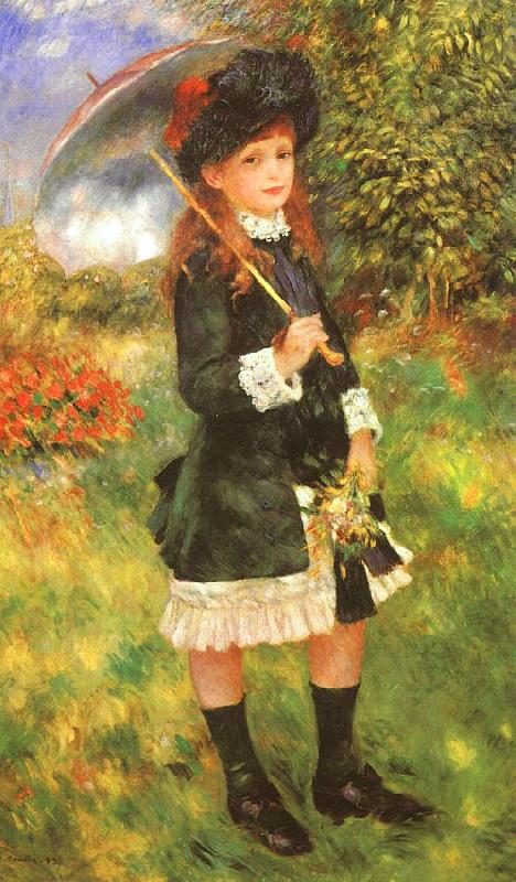 Pierre Renoir Young Girl with a Parasol Sweden oil painting art