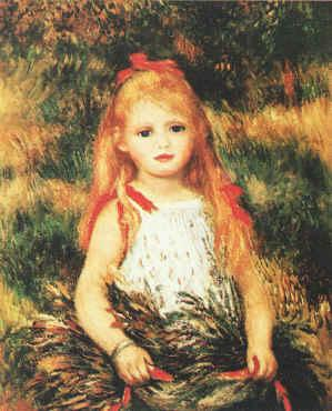Pierre Renoir Girl with Sheaf of Corn Sweden oil painting art