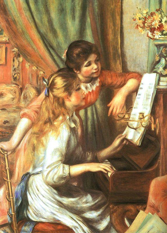 Pierre Renoir Two Girls at the Piano Sweden oil painting art