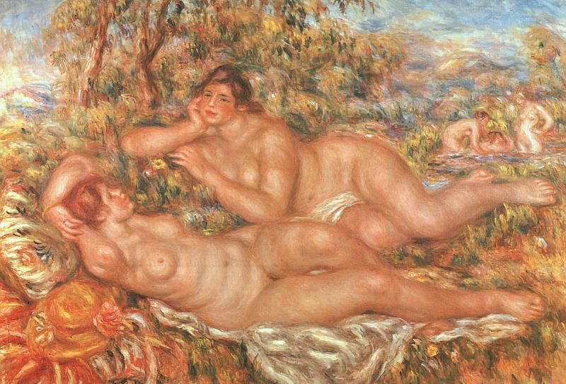 Pierre Renoir The Great Bathers Sweden oil painting art