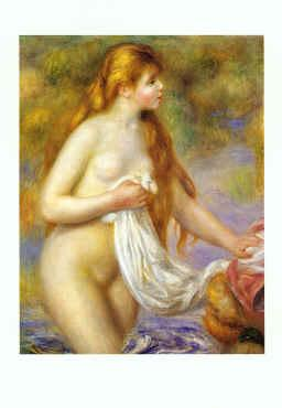 Pierre Renoir Bather with Long Hair Sweden oil painting art
