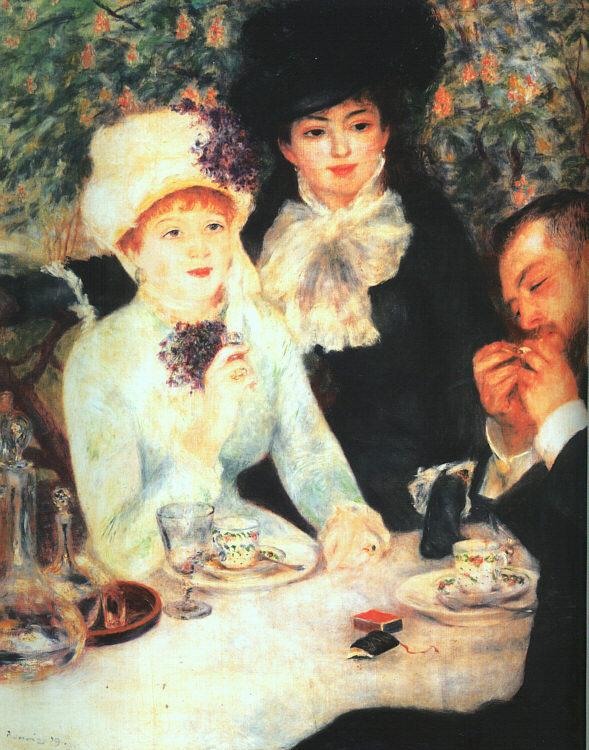 Pierre Renoir The End of the Luncheon Sweden oil painting art
