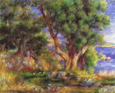 Pierre Renoir Landscape on the Coast near Menton Sweden oil painting art