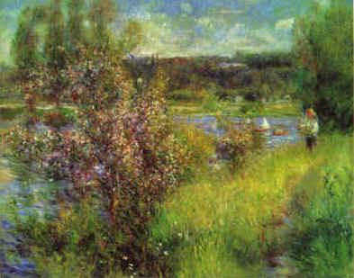Pierre Renoir The Seine at Chatou Sweden oil painting art
