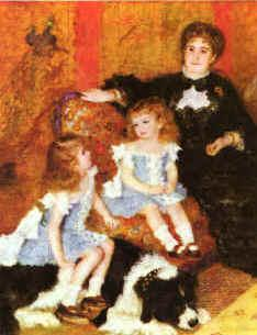 Pierre Renoir Madam Charpentier Children Sweden oil painting art