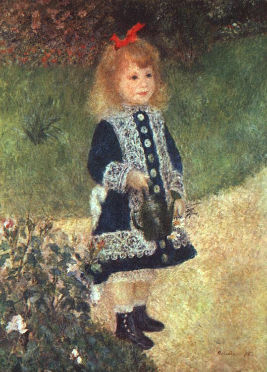 Pierre Renoir Girl and Watering Can Sweden oil painting art