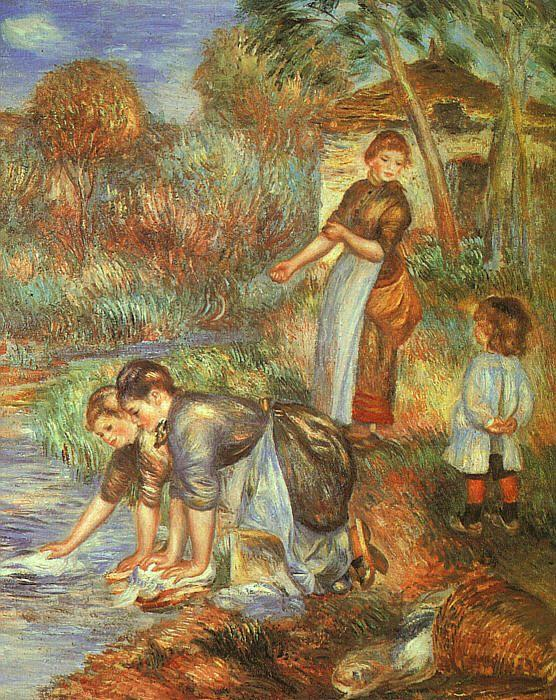 Pierre Renoir Washerwoman oil painting image