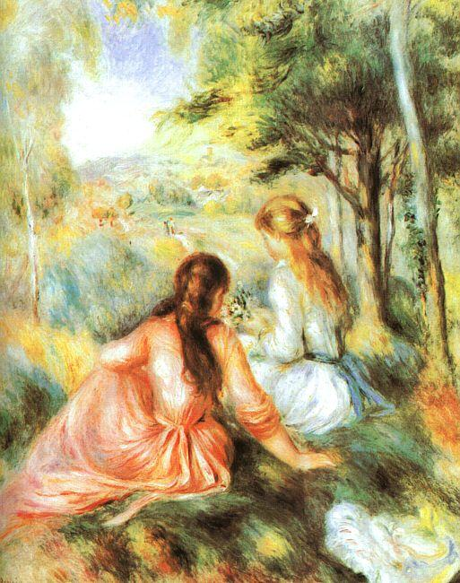 Pierre Renoir In the Meadow Sweden oil painting art