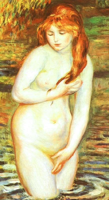 Pierre Renoir Young Woman Bathing Sweden oil painting art