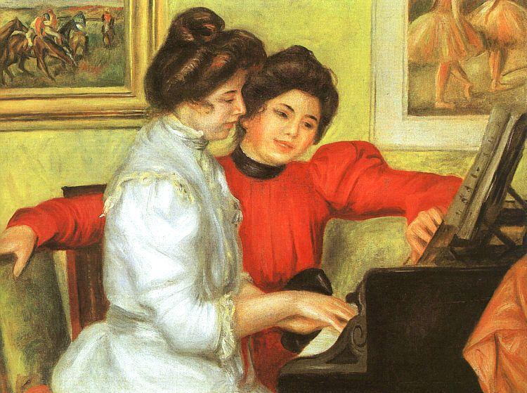 Pierre Renoir Yvonne and Christine Lerolle Playing the Piano Sweden oil painting art