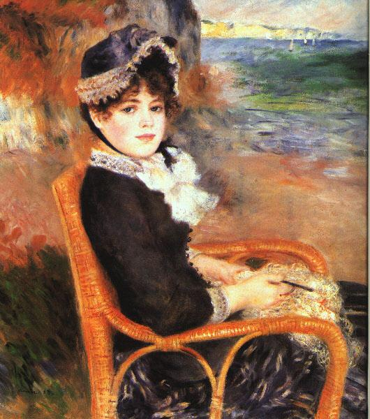 Pierre Renoir By the Seashore Sweden oil painting art