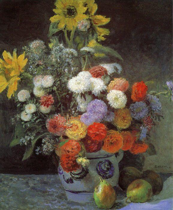 Pierre Renoir Mixed Flowers in an Earthenware Pot Sweden oil painting art