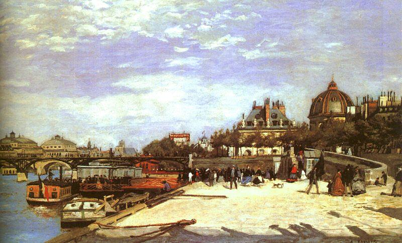 Pierre Renoir The Pont des Arts the Institut de France oil painting image