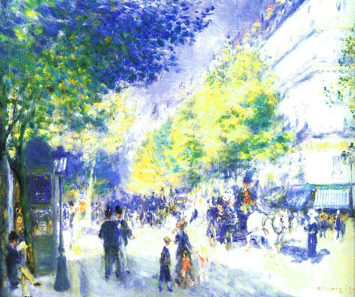 Pierre Renoir Les Grands Boulevards Sweden oil painting art