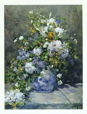 Pierre Renoir Spring Bouquet Sweden oil painting art