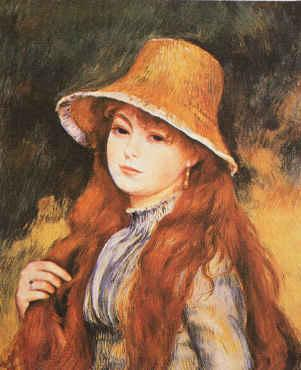 Pierre Renoir Girl and Golden Hat Sweden oil painting art