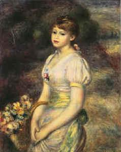 Pierre Renoir Young Girl with Flowers Sweden oil painting art