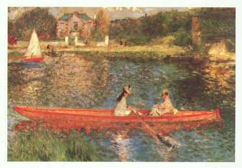 Pierre Renoir Boating on the Seine Sweden oil painting art