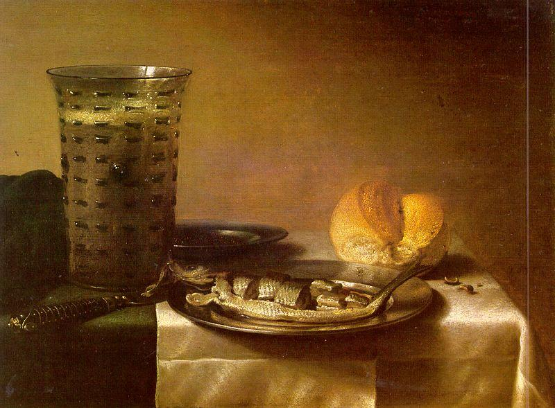 Pieter Claesz Fish Still Life oil painting image
