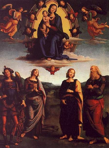 Pietro Perugino The Virgin and Child with Saints oil painting image