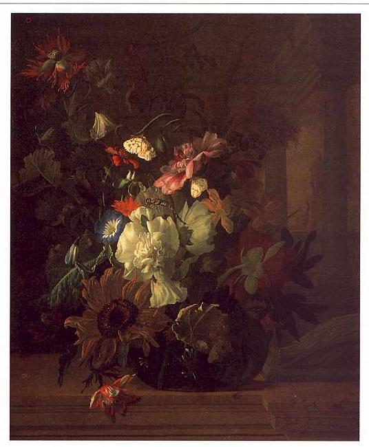 Rachel Ruysch Still Life of Flowers Sweden oil painting art