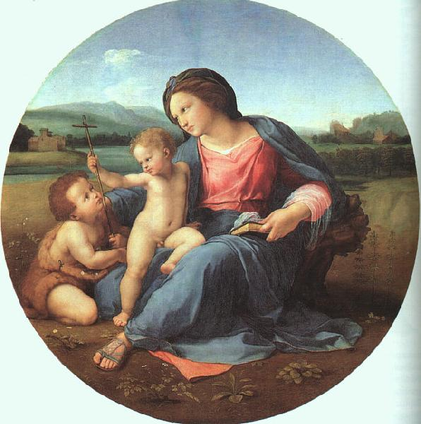 Raphael The Alba Madonna Sweden oil painting art
