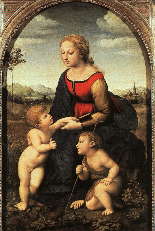 Raphael The Virgin and Child with John the Baptist Sweden oil painting art